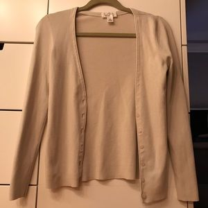Vneck Long Sleeve Cardigan Sweater Buttons